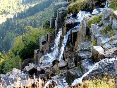 The source of the Elbe and Pančavský waterfall - the highest waterfall in the Czech Republic
