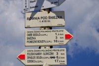 Výlet na Sněžku - rozcestník Rownia