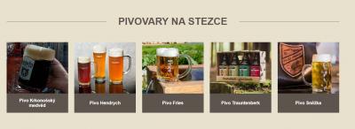 Nehmen Sie den Krkonoše Bierweg