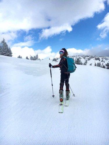 Schöne Route im Riesengebirge - Mohyla Hanče a Vrbaty, Labská Bouda und Martinovka auf Langlaufskiern und alpinem Skialpining