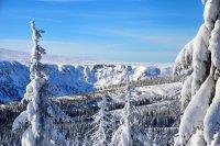 Zimní pohled na Labský důl