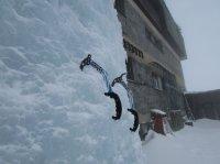 Výrovka - ledolezení - ledová stěna