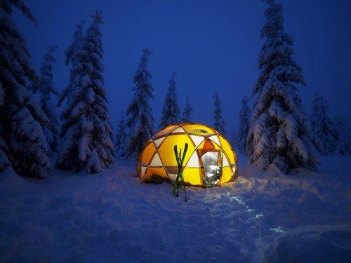 Snow camp - přenocování na hřebenech Krkonoš