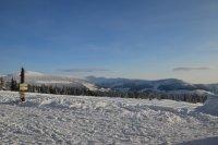 Pohled od Moravské boudy