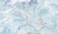 Skialpová trasa před Modrý důl