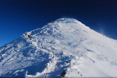 6. TIP på ski-alperne fra Pec pod Sněžkou - Kæmpemine - Kæmpehytte - Sněžka - Růžová hora - Pec pod Sněžkou