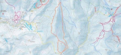 7. TIPP für Ski-Alpen: Rokytnice - Vlčí cesta - Hin- und Rückfahrt - U Vlka - Vrata
