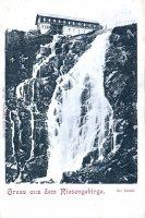 Labský vodopád a Labská bouda - historie