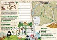 Mechová pěšinka - mapa