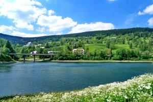 Pension Krausovy Boudy Špindlerův Mlýn - pohled na Labskou přehradu